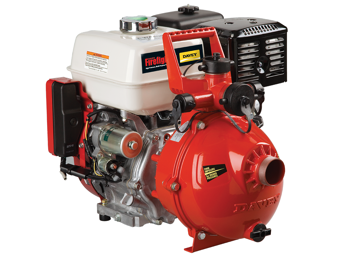 5213HE - twin stage, 389cc Honda GX390E electric start engine, flow rates up to 660 lpm, and 3-way outlet